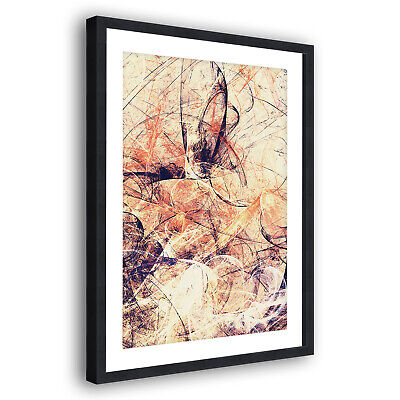 AB1496 Black Yellow Orange Modern Abstract Framed Wall Art Large Picture Prints
