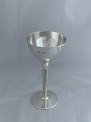 Solid Sterling Silver Martini Or Cocktail Goblet 1972 Birmingham Wine Glass