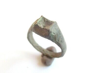 Amazing Ancient CELTIC Bronze Lady's Finger Ring > La Tene Culture WEARABLE!!!