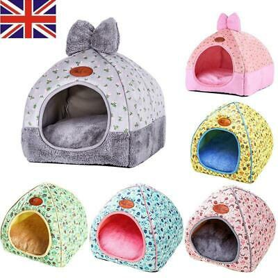 Cute Pet Cat Dog Nest Bed Puppy Soft Warm Cave House Winter Sleeping Bag Mat Pad
