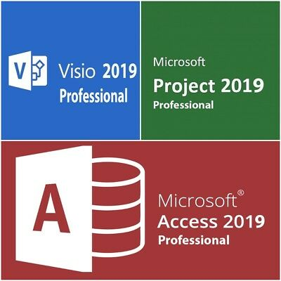MS Visio Access Project 2019 Professional Vollversion Lizenz - Blitz Versand 1PC