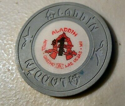 ALADDIN CASINO Las Vegas CHIPS (1) $5. AND (1) $1. USED