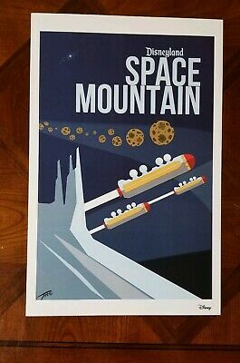 Space Mountain Attraction Poster Print 11x17