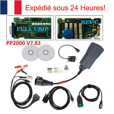 Full Chip Lexia3/PP2000 Diagbox V7.83 Interface Diagnostic OBD2 Citroen Peugeot