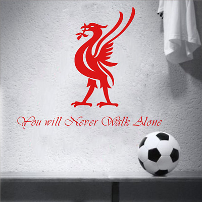 Liverpool Wall Sticker Football Club Lyric Inspiration Quote - You Will Never