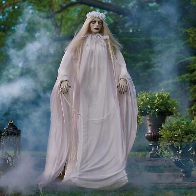 """Halloween Animated Zombie Bride Scary Full Size Prop 66"""" w/ Lighted Eyes SALE!"""