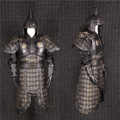Chinese Ancient Three countries Zhang Fei General helmet and armor