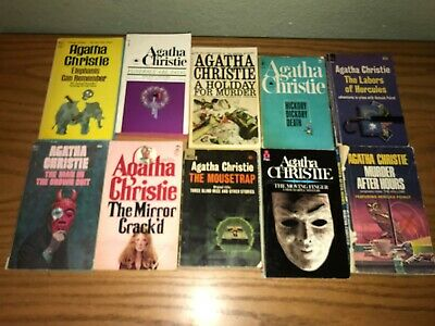 Agatha Christie lot of 10 mostly vintage paperback books Elephants Can Remember