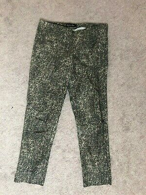 ESTELLE and FINN Pants 6 Gray Snakeskin Print Stretch SKINNY Flat Front ANKLE