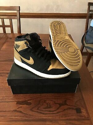 Nike Air Jordan 1 Retro High Melo PE Gold Toe 332550-026 Size 12 CLEAN USED
