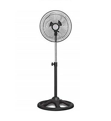 "Ventilador De Pie De Metal 10"" Oscilación 120º Cyclone 45W Altura Regulable"