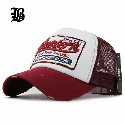 [FLB] Summer Baseball Cap Embroidery Mesh Cap Hats For Men Women Gorras Hombre h