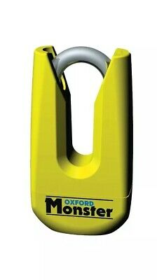 Oxford Monster Motorcycle Motorbike Ultra Strong Disc Lock | Yellow