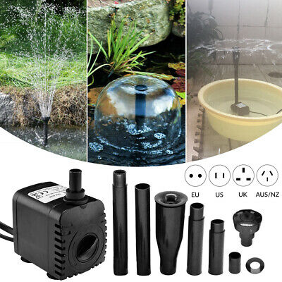 Waterfall Fountain Water Feature Pump Submersible Garden Pond Aquarium Fish Tank