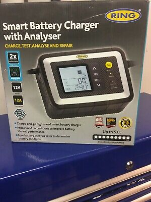 Ring Smart Battery Charger With Analyser RRP £110 Brand New In Box