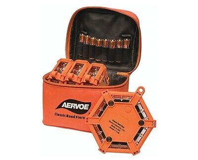 Aervoe Orange Amber 18 LED Lights Classic Emergency Road 4-Flare Pack