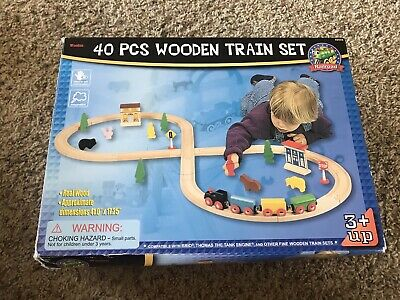 Maxim Enterprise 40 Piece Wooden Train Set Compatible With Briothomas The Train