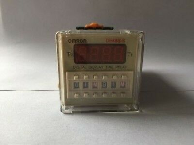220V AC 48*48mm 0.1S-99H Programmable Double Time Delay Relay DH48S-S Free Socke