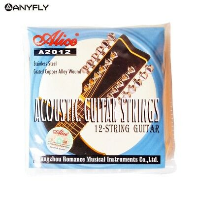 Alice A2012 12 Strings Acoustic Guitar Strings 010-026 Musical Instrument Parts