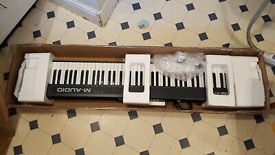 M-audio keystation 88. Opened but unused. 88 keys with CD driver and instruction