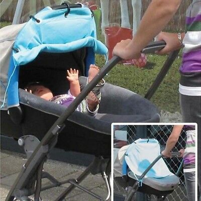 Baby Stroller Sunshield Ventilated Sun Protection Cover Rolling Curtain Cloth