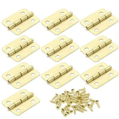 10Pcs Kitchen Cabinet Door 4 Holes Drawer Hinges Jewelry Box Furniture LC