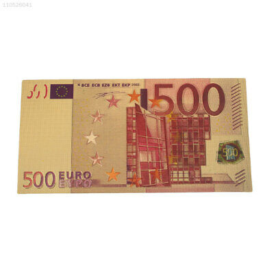 41EF Gold Banknotes 24K Gold Plated Euro Fake Money Commemorative Notes Pounds