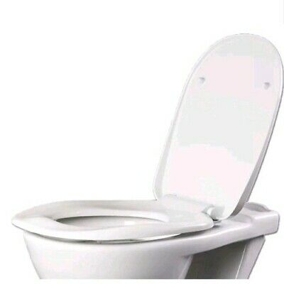 AKW White Ergonomic Toilet Seat with Lid Metal Hinges And Soft Close 23122