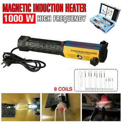 110V/220V 1000W Mini Ductor Induction Heater Handheld High Frequency 8 Coils Kit