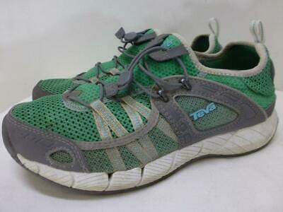 TEVA lace up mesh gray green climbing hike trek sneakers Shoes womens sz 10 41