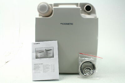 Dometic 301096206 2.5 Gallon RV Camping Portable Toilet Platinum w Side Latches