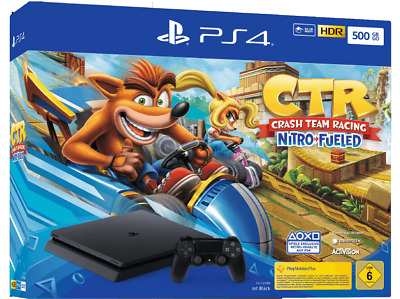 Sony Playstation 4 Slim 500GB schwarz + Crash Team Racing CUH-2216A NEU OVP PS4