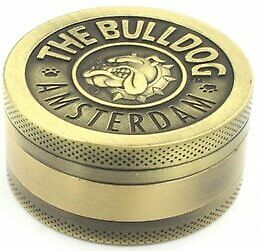 The Bulldog Amsterdam Metal Grinder 4 layers Gray or Bronze Colours