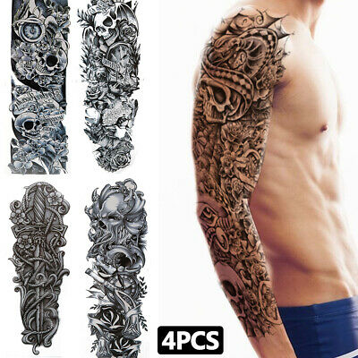 Large Long Lasting Temporary Tattoo Sticker 3d Waterproof Arm Back