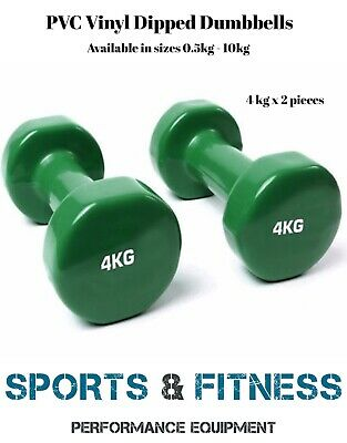 GREEN 4kg pair  Anti-Slip Dumbbell Weight Home Gym Fitness Exercise Workout Set