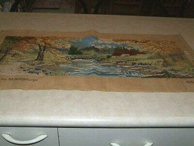 Tapestry Canvas - Autumn in the Middle Mountains -   Started
