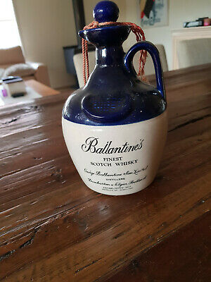 Ballantines Whisky Jug Ceramic Decanter Flagon Stoneware