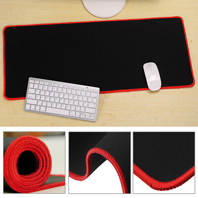 Extended Gaming Large Mouse Pad 600x300mm Big Size Desk Mat Black&Red UK