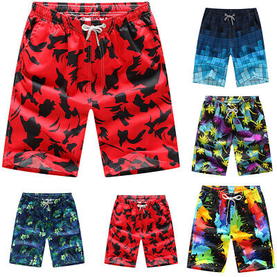 Men's Hawaii Surf Board Shorts Holiday Beach Shorts Pants Boxer Briefs Pants