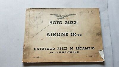 Moto Guzzi Airone 250 Sport Tur. 1958 catalogo ricambi originale parts catalogue