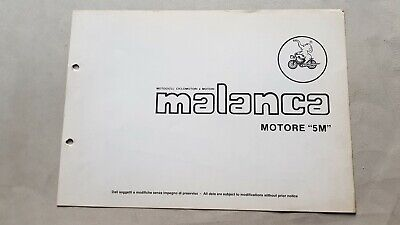 Malanca 50 MOTORE 5 M varianti catalogo ricambi originale spare parts catalogue