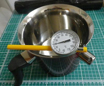 Candle Making-Safety Wax Melting Pot,1.5 Litre, candle Thermometer &  guide