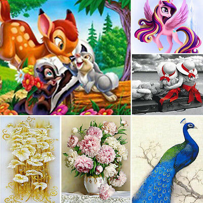Animal DIY 5D Diamond Painting Cross Embroidery Craft Stitch Art Kit Home Decor
