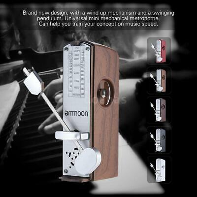 ammoon Portable Mini Mechanical Metronome for Piano Guitar Violin Natural