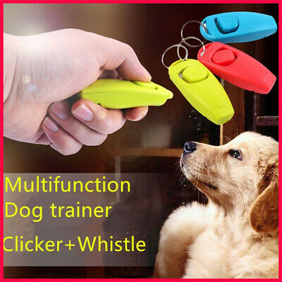 2 in1 Dog Training Click Whistle Clicker Pet Guide Obedience Trainer Click Puppy