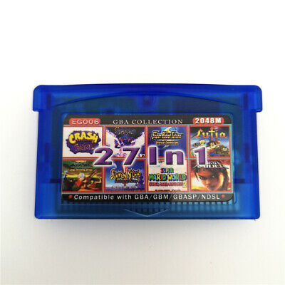 27 IN 1 Multicart Game Card Cartridge For Nintendo GBA/SP/NDSI/NDSL -EG006