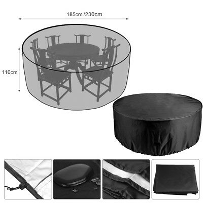 Heavy Duty Round Cube Cover Waterproof Garden Patio Table Chair Set Protection