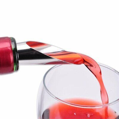 Red Wine Aerator Pour Spout Bottle Stopper Decanter Pourer Aerating Fd
