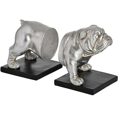Antique Silver Bulldog Bull Dog Bookends Study Office Mans Gift