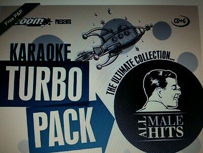 KARAOKE CDG    MALE TURBO PACK  109  GOLDEN HITS from 60s - 70s   (SET  6 to 10)